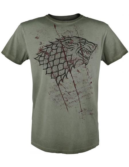 Game Of Thrones Emblème Stark Entaillé T-shirt olive