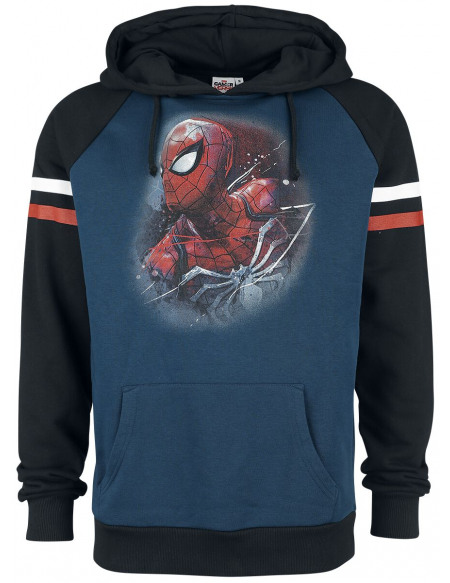 Spider-Man The Amazing Spider-Man Sweat à capuche bleu/noir
