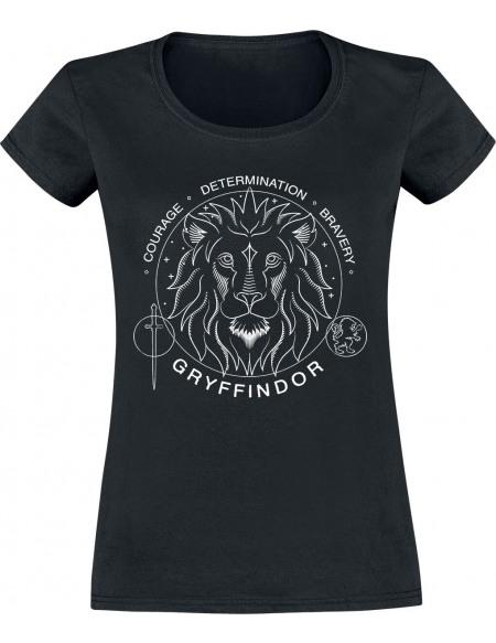 Harry Potter Gryffondor - Sceau T-shirt Femme noir