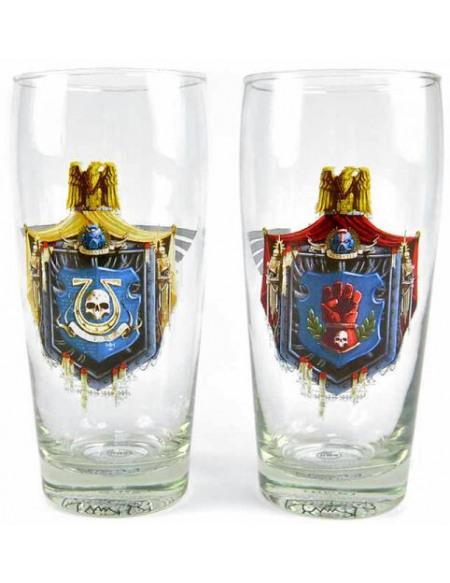 Warhammer 40.000 Ultramarines & Crimson Fists Set verres Standard