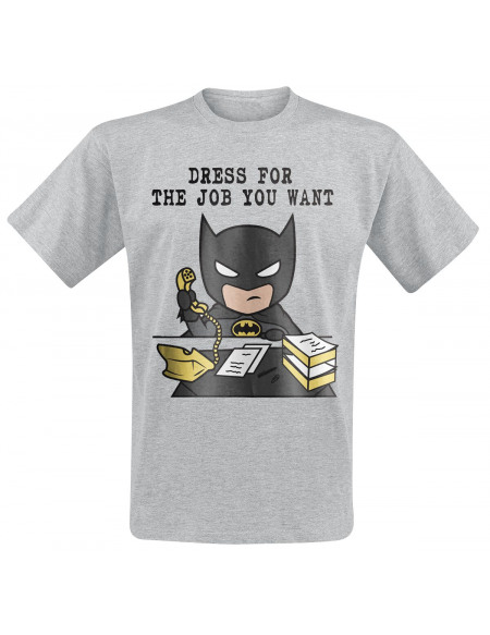 Batman Dress For The Job You Want T-shirt gris chiné