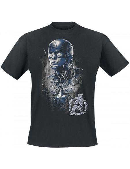 Captain America Profil T-shirt noir