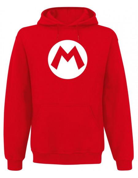 Super Mario M Sweat à capuche rouge