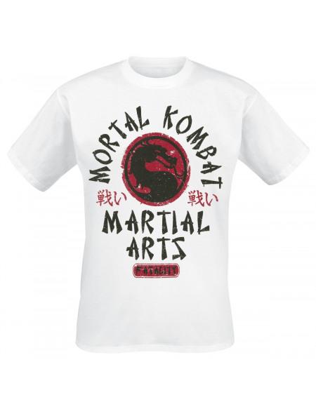 Mortal Kombat Martial Arts T-shirt blanc