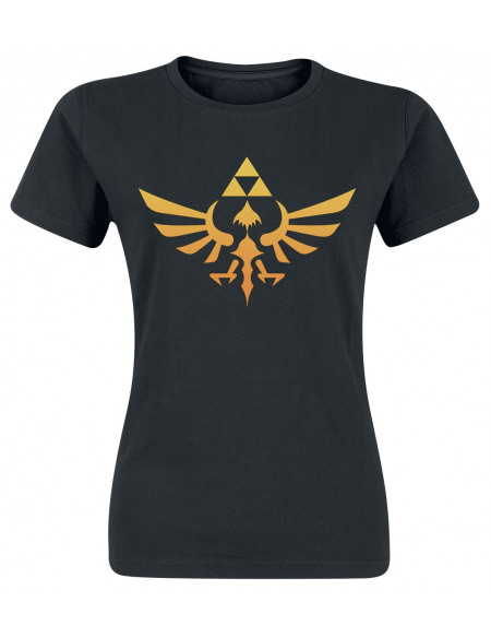 The Legend Of Zelda Hyrule T-shirt Femme noir