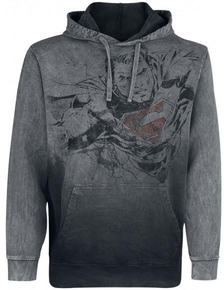 Superman Vol Sweat à capuche gris