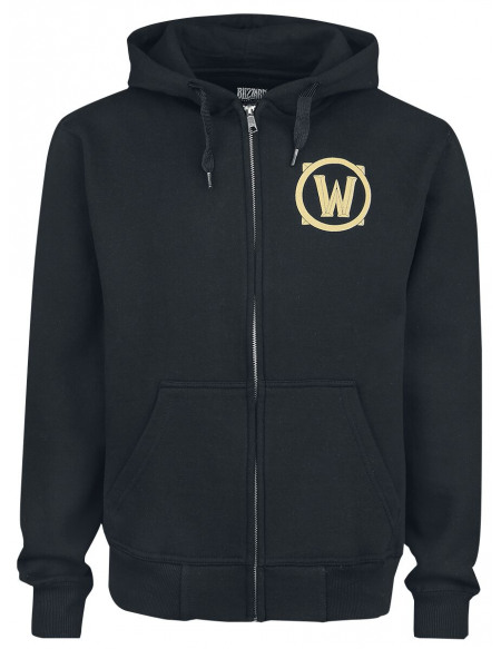 World Of Warcraft Bouclier De L'Alliance Sweat Zippé à Capuche noir
