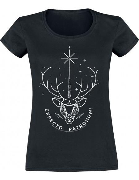Harry Potter Expecto Patronum T-shirt Femme noir