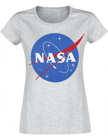 NASA Logo Rond NASA T-shirt Femme anthracite