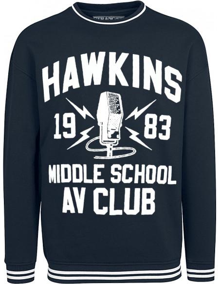 Stranger Things Hawkins Middle School Sweat-shirt bleu foncé