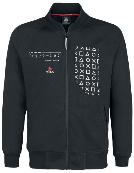 Playstation Symboles Japonais Veste noir