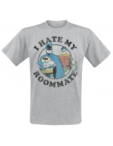 Batman Roommates T-shirt gris chiné