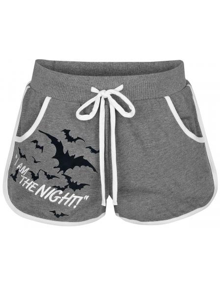 Batman I Am The Night Short Femme gris sombre chiné
