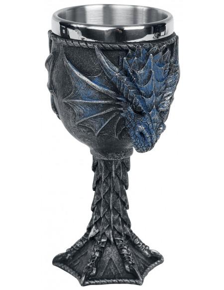 Nemesis Now Calice Dragon Lore Graal noir
