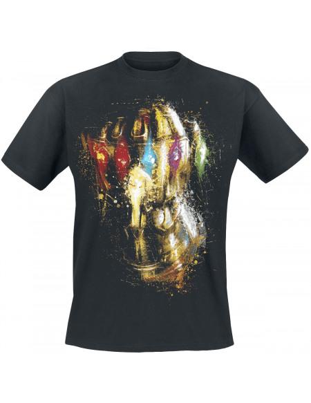 Avengers Endgame - Gant D'Infinité de Thanos T-shirt noir