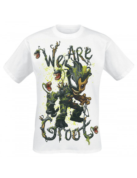 Marvel Groot Vénomisé - We Are Groot T-shirt blanc