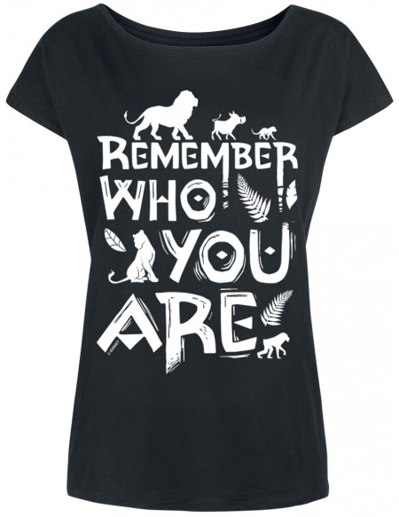 Le Roi Lion Remember Who You Are T-shirt Femme noir
