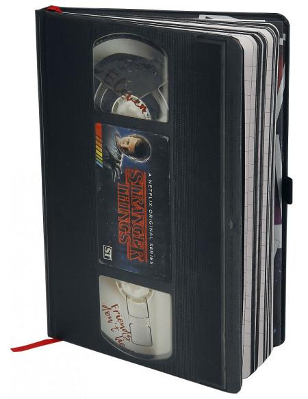 Stranger Things VHS - Carnet Premium Cahier noir/blanc