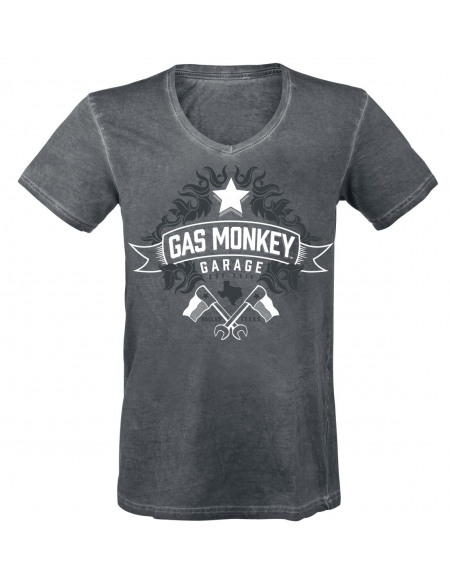 Gas Monkey Garage EST XXIV T-shirt gris