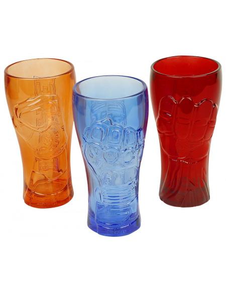 Avengers Spider-Man, Captain America, Iron Man Set mugs en verre multicolore
