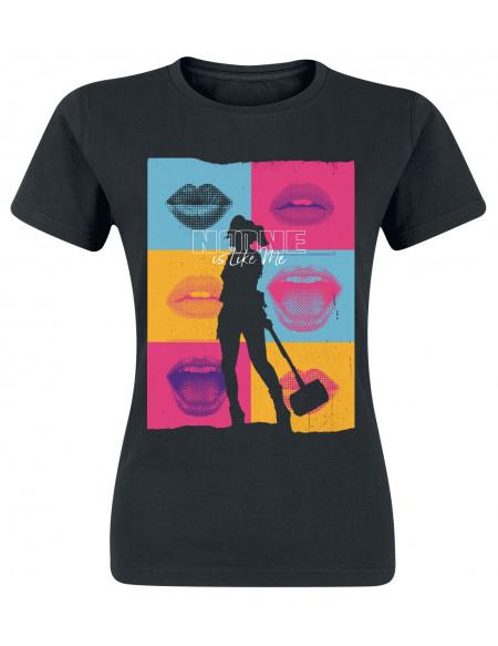 Birds Of Prey Pop Art T-shirt Femme noir