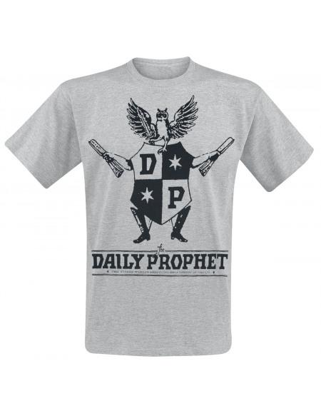 Harry Potter Daily Prophet T-shirt gris chiné