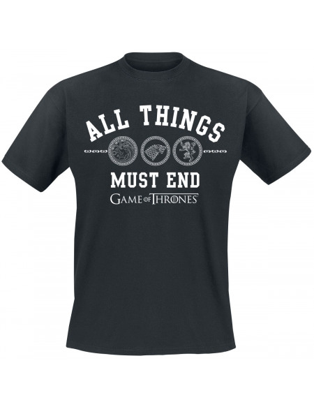 Game Of Thrones All Things Must End T-shirt noir