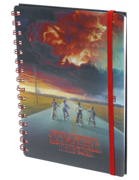 Stranger Things Mind Flayer - Holographic Cahier rouge