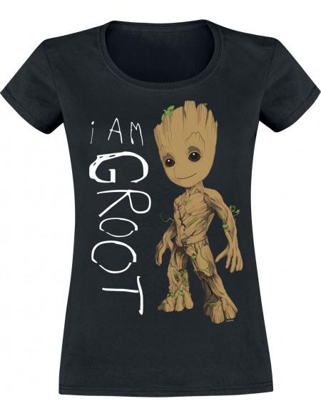 Les Gardiens De La Galaxie I Am Groot T-shirt Femme noir