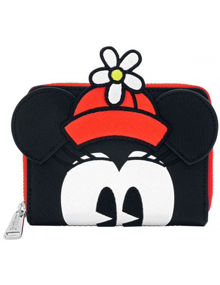 Mickey & Minnie Mouse Loungefly - Pois Minnie Portefeuille noir/blanc/rouge