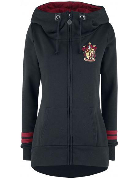 Harry Potter Gryffondor Veste à Capuche Femme noir