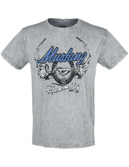 Ford Mustang - United We Stang T-shirt bleu/gris