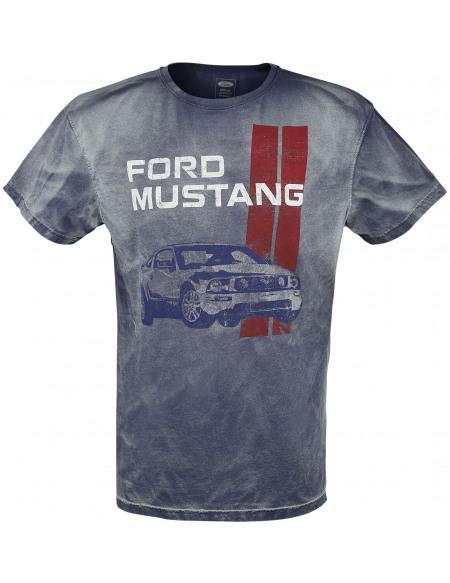 Ford Mustang T-shirt bleu