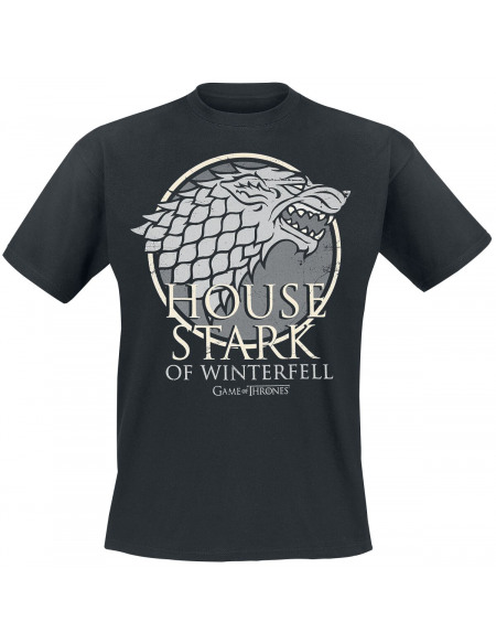 Game Of Thrones House Stark Of Winterfell T-shirt noir