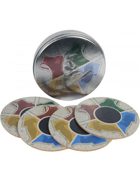 Harry Potter Maisons - Dessous De Verres Thermo-Réactifs Dessous de verre multicolore