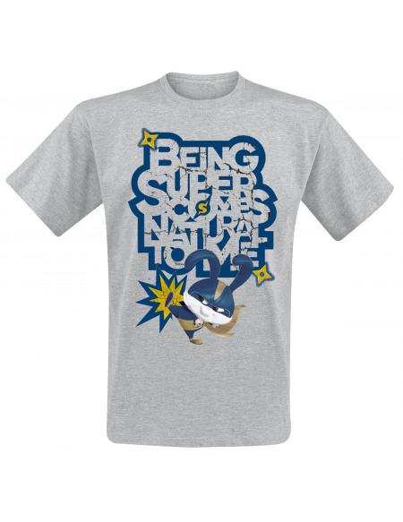 Comme Des Bêtes Pompon - Being Super T-shirt gris chiné