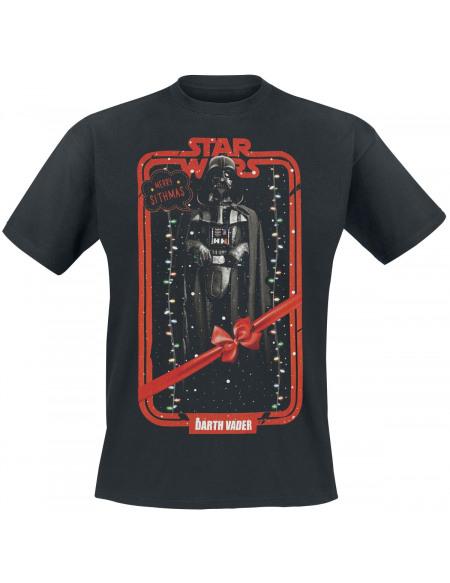 Star Wars Dark Vador - Noël T-shirt noir