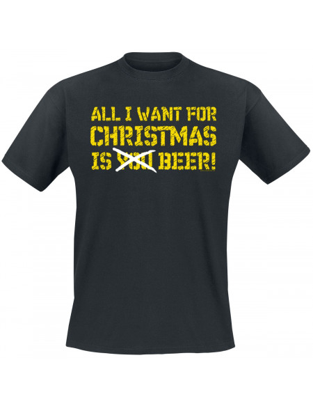 All I Want For Christmas Is Beer T-shirt noir