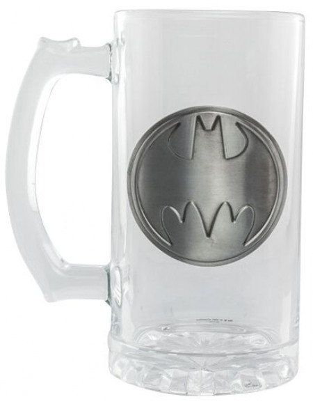 Batman Logo En Métal Chope à bière transparent