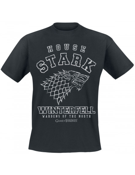 Game Of Thrones Maison Stark - Winterfell T-shirt noir