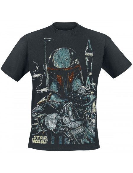 Star Wars Boba Fett T-shirt noir