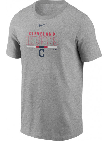 MLB Nike - Cleveland Indians T-shirt gris sombre chiné