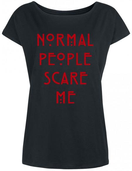 American Horror Story Normal People Scare Me T-shirt Femme noir