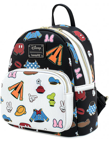 Mickey & Minnie Mouse Loungefly - Die Sensationellen 6 Sac à Dos multicolore