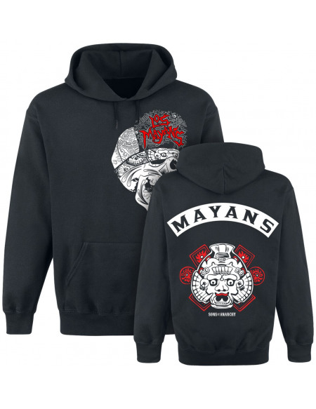 Sons Of Anarchy Los Mayans Sweat à capuche noir