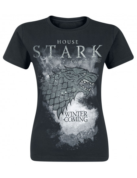 Game Of Thrones Maison Stark - Winter Is Coming T-shirt Femme noir