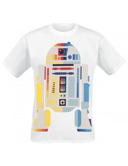 Star Wars Star Wars Épisode 4 - Un Nouvel Espoir - R2D2 Néon T-shirt blanc