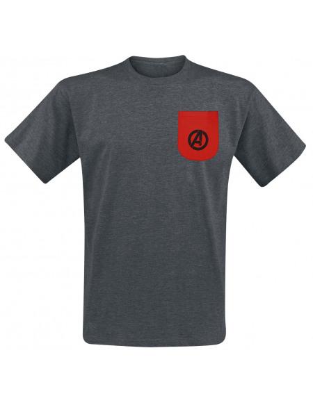 Avengers Avengers - Logos T-shirt gris sombre chiné