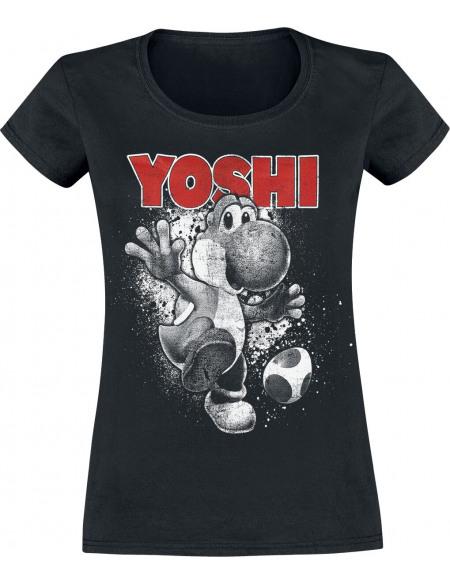 Super Mario Yoshi - Ride T-shirt Femme noir