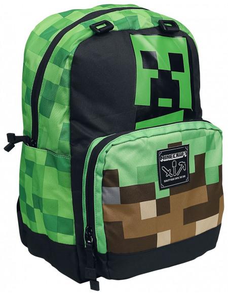 Minecraft Creeper Sac à Dos multicolore
